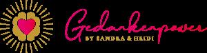 Gedankenpower by Sandra und Heidi Logo in Handschrift